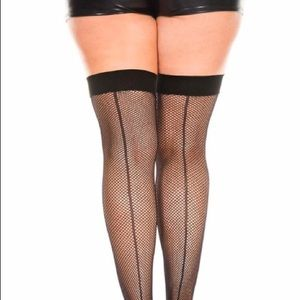 Plus Size Fishnet Thigh Highs